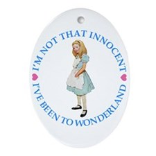 ALICE_NOT THAT INNOCENT rd.png Ornament (Oval)
