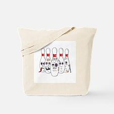 Beat Up Bowling Pins Tote Bag