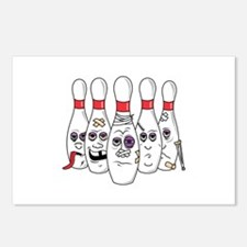 Beat Up Bowling Pins Postcards (Package of 8)