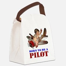 BORN TO BE A PILOT Canvas Lunch Bag