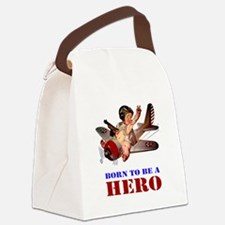 BORN TO BE A HERO Canvas Lunch Bag