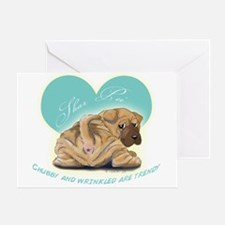 Shar Pei Greeting Card