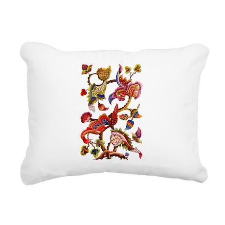 crewel work002-small.png Rectangular Canvas Pillow