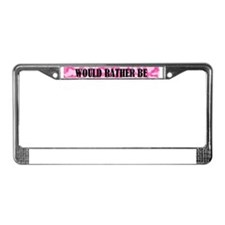 Pink camo License Plate Frame