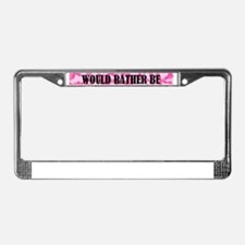 Cute Would License Plate Frame