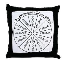 Programmer's Color Wheel Throw Pillow
