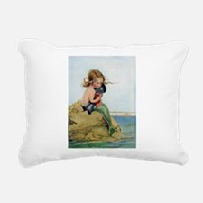 LITTLE MERMAID Rectangular Canvas Pillow