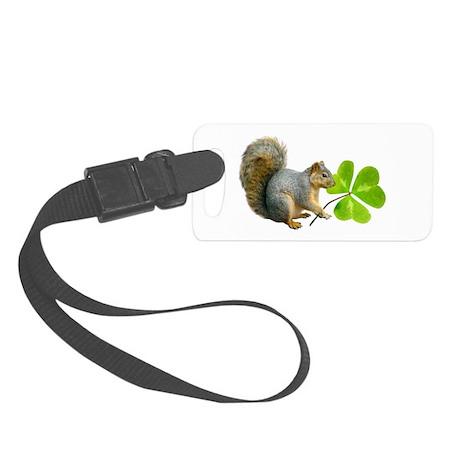 Shamrock Squirrel Luggage Tag