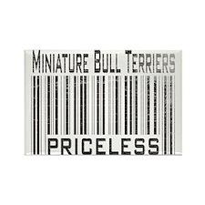 Miniature Bull Terrier Rectangle Magnet