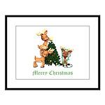 A VERY DEER CHRISTMAS Large Framed Print