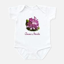 Anne Marie: Purple Flower Infant Bodysuit