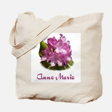 Anne Marie: Purple Flower Tote Bag
