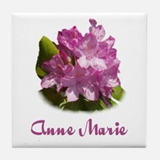 Anne Marie: Purple Flower Tile Coaster