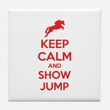 Keep calm and show jump Tile Coaster