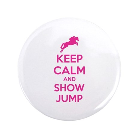 "Keep calm and show jump 3.5"" Button"