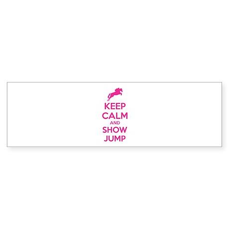 Keep calm and show jump Sticker (Bumper)