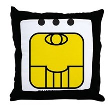 YELLOW Electric SEED Throw Pillow