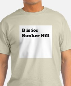 B is for Bunker Hill Ash Grey T-Shirt