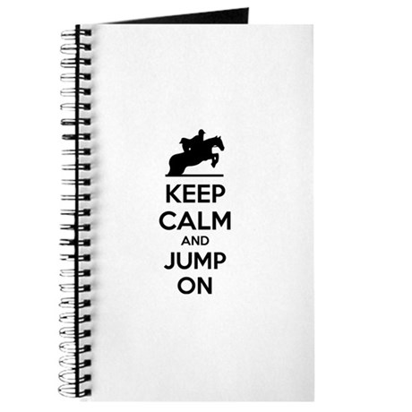 Keep calm and show jump Journal