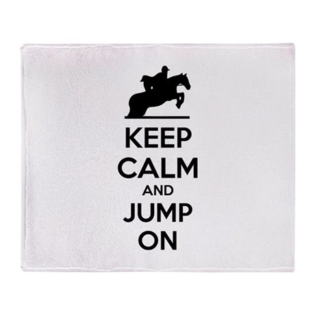 Keep calm and show jump Throw Blanket