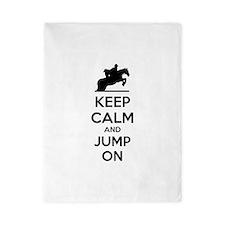 Keep calm and show jump Twin Duvet