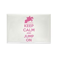 Keep calm and jump on Rectangle Magnet