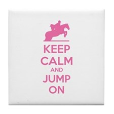 Keep calm and jump on Tile Coaster