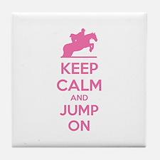 Keep calm and jump on Tile Coaster