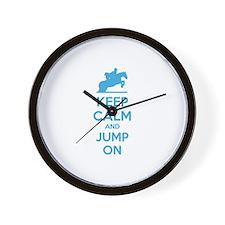 Keep calm and jump on Wall Clock