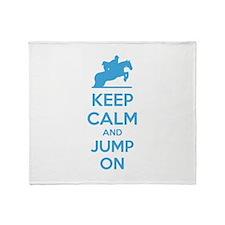 Keep calm and jump on Throw Blanket