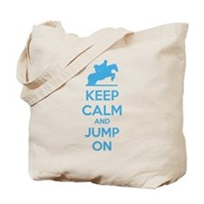 Keep calm and jump on Tote Bag