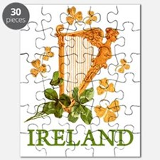 Ireland - Golden Irish Harp Puzzle
