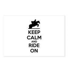 Keep calm and ride on Postcards (Package of 8)