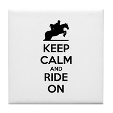 Keep calm and ride on Tile Coaster