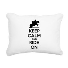 Keep calm and ride on Rectangular Canvas Pillow