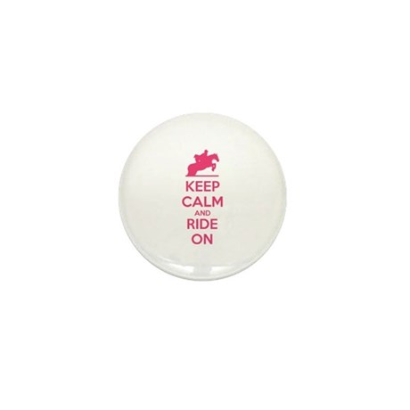 Keep calm and ride on Mini Button