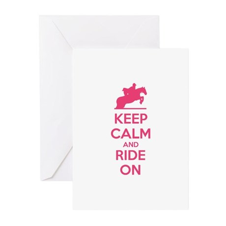 Keep calm and ride on Greeting Cards (Pk of 10)