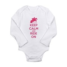 Keep calm and ride on Long Sleeve Infant Bodysuit