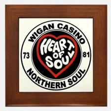Retro wigan Casino mod northern soul Framed Tile