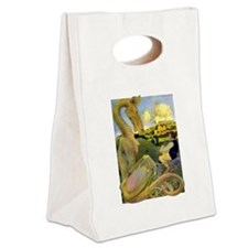 DRAGON TALES Canvas Lunch Tote