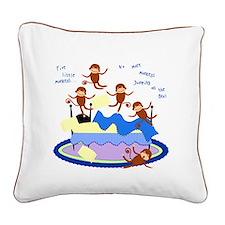 Five little Monkeys... Square Canvas Pillow