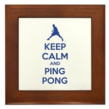 Keep calm and ping pong Framed Tile