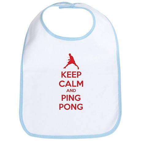 Keep calm and ping pong Bib
