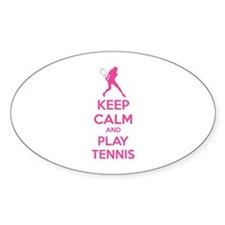 Keep calm and play tennis Decal