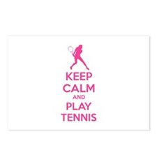 Keep calm and play tennis Postcards (Package of 8)