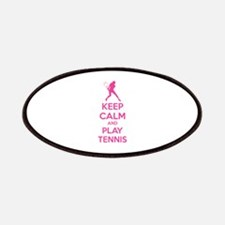 Keep calm and play tennis Patches