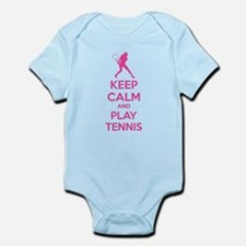 Keep calm and play tennis Infant Bodysuit
