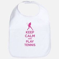 Keep calm and play tennis Bib