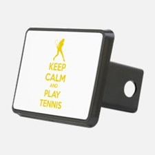 Keep calm and play tennis Hitch Cover