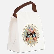 TruePatriotBears-gold copy.png Canvas Lunch Bag